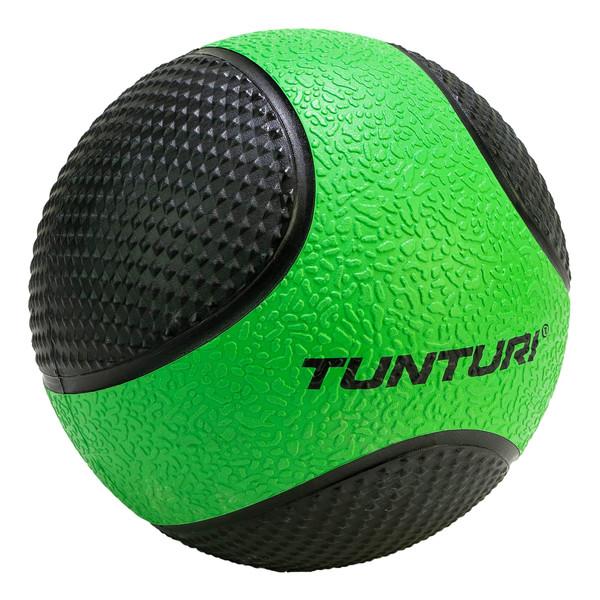 Tunturi medicijnbal 2 kg 19 cm rubber groen-zwart