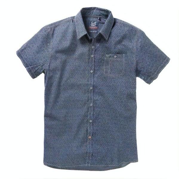 Twinlife MSH711624 heren overhemd met korte mouw