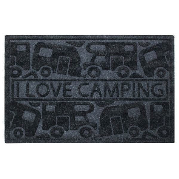 Umefa schoonloopmat I love camping zwart 60 cm