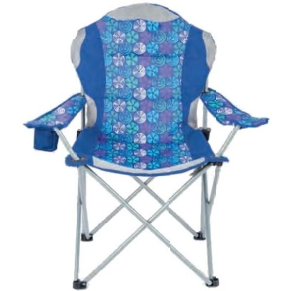 Yello Campingstoel Deluxe 84 x 88 x 59 cm blauw