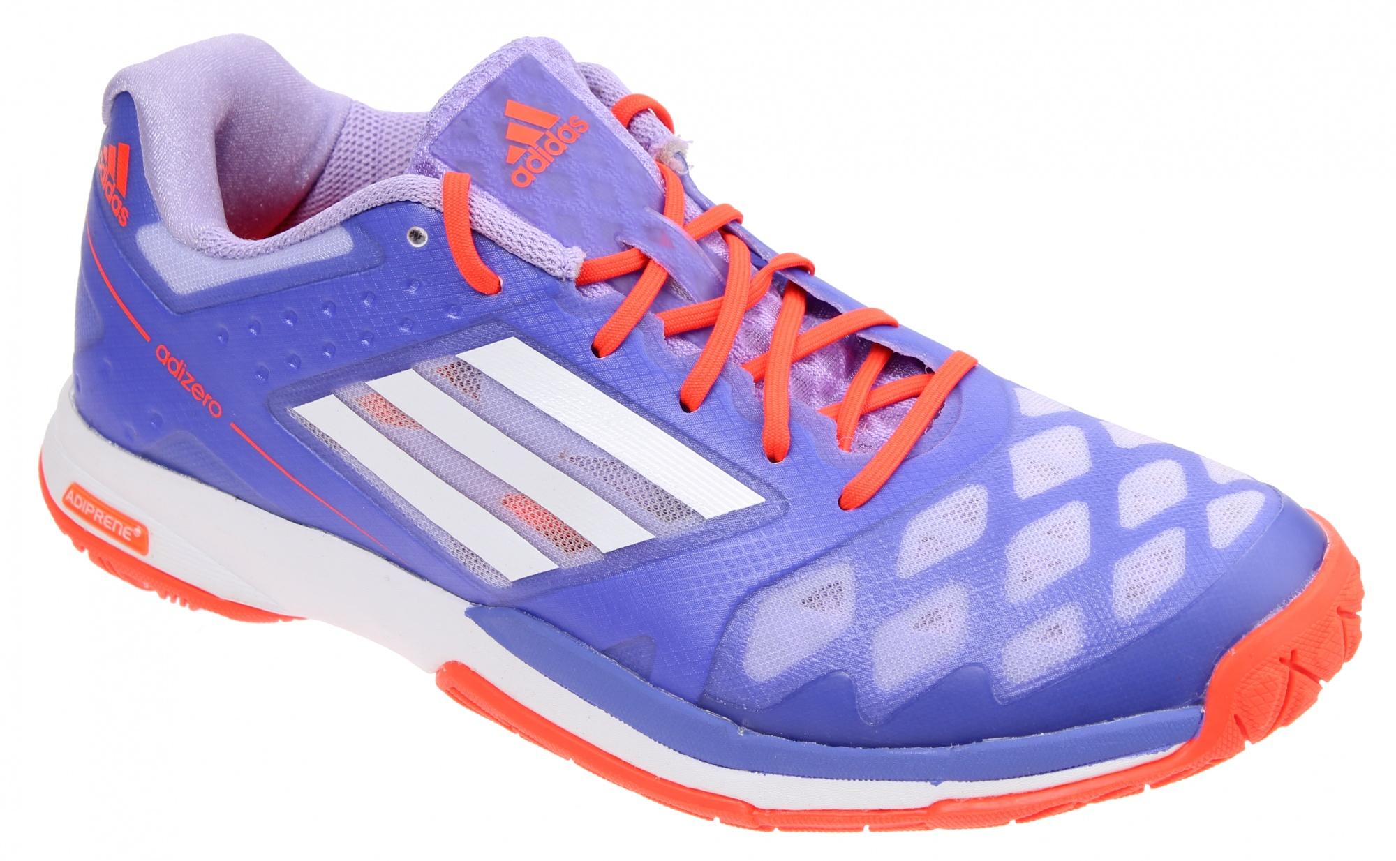 super popular a2994 2864a adidas badminton shoes Adizero Feather Ladies purple