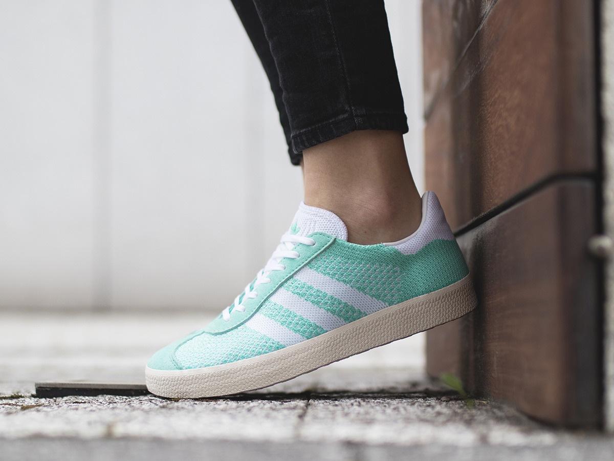 adidas sneakers Gazelle Primeknit dames groen Internet