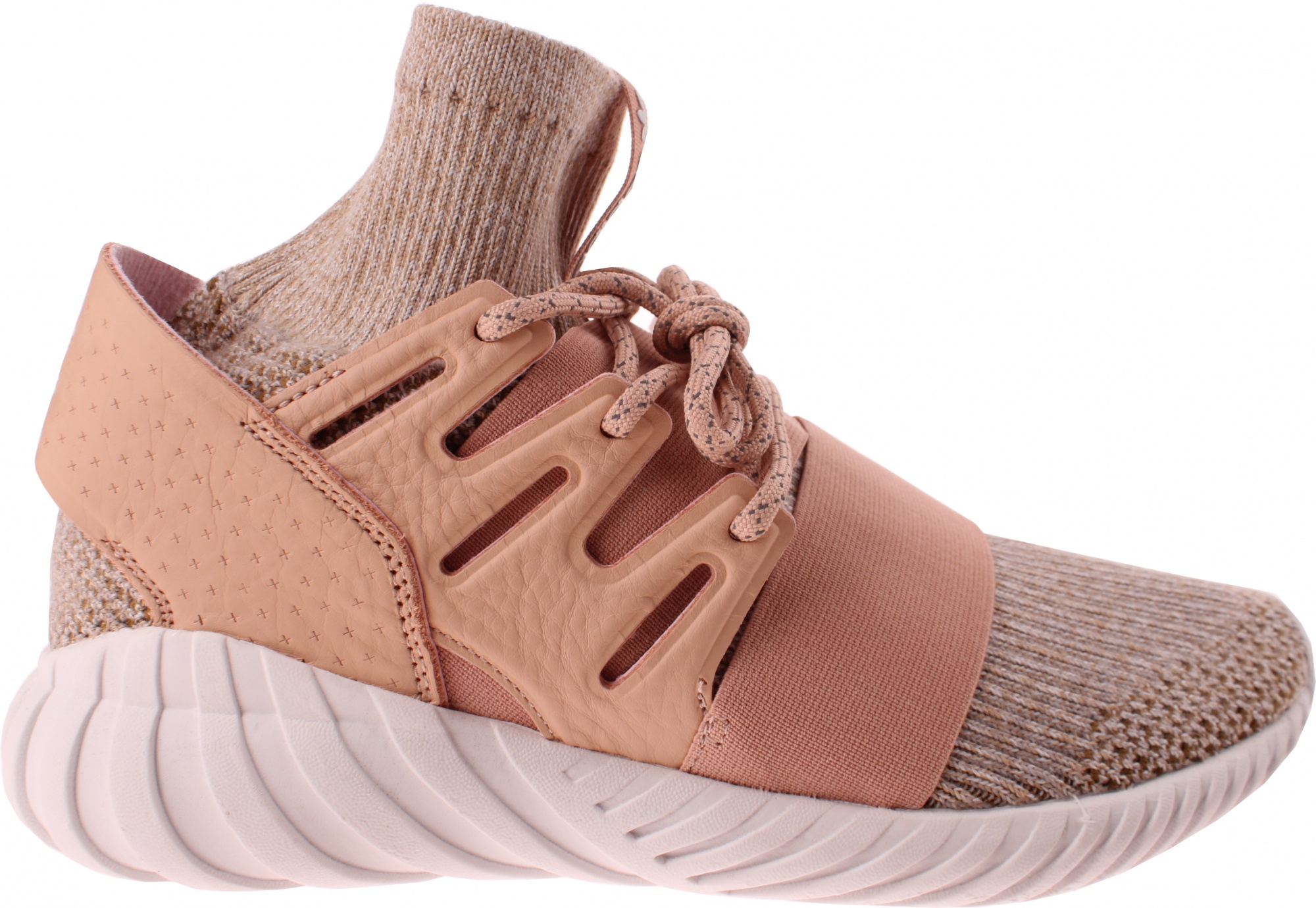0e7f8690 adidas sneakers Tubular Doom men's brown / salmon pink - Internet ...