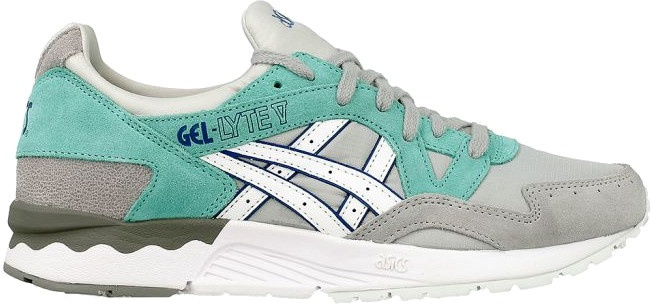 watch 1755a 83590 ASICS sneakers Gel Lyte V ladies gray   mint green