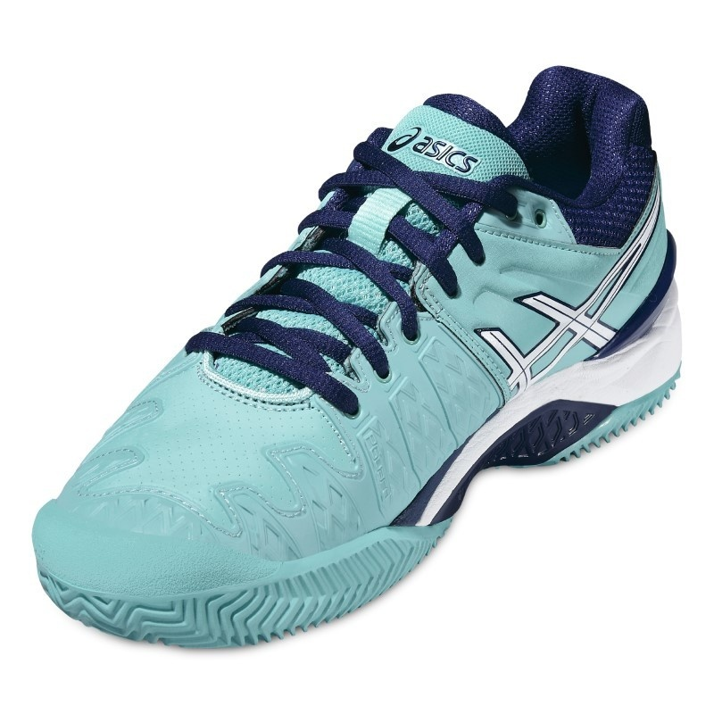 ASICS Tennis shoes Gel Resolution Clay 6 ladies aqua
