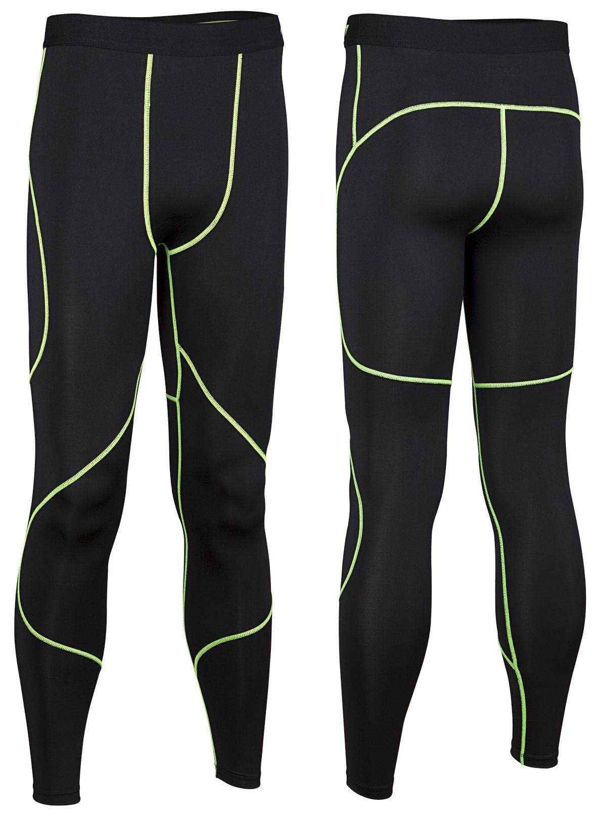 a7b5daf6d4 Avento Compression Pants men black / yellow - Internet-Sport&Casuals