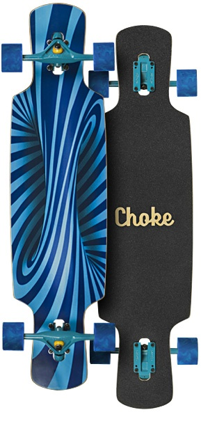53d4940b34 Choke Longboard Trick Lollipop Elite Drop Through blue - Internet ...