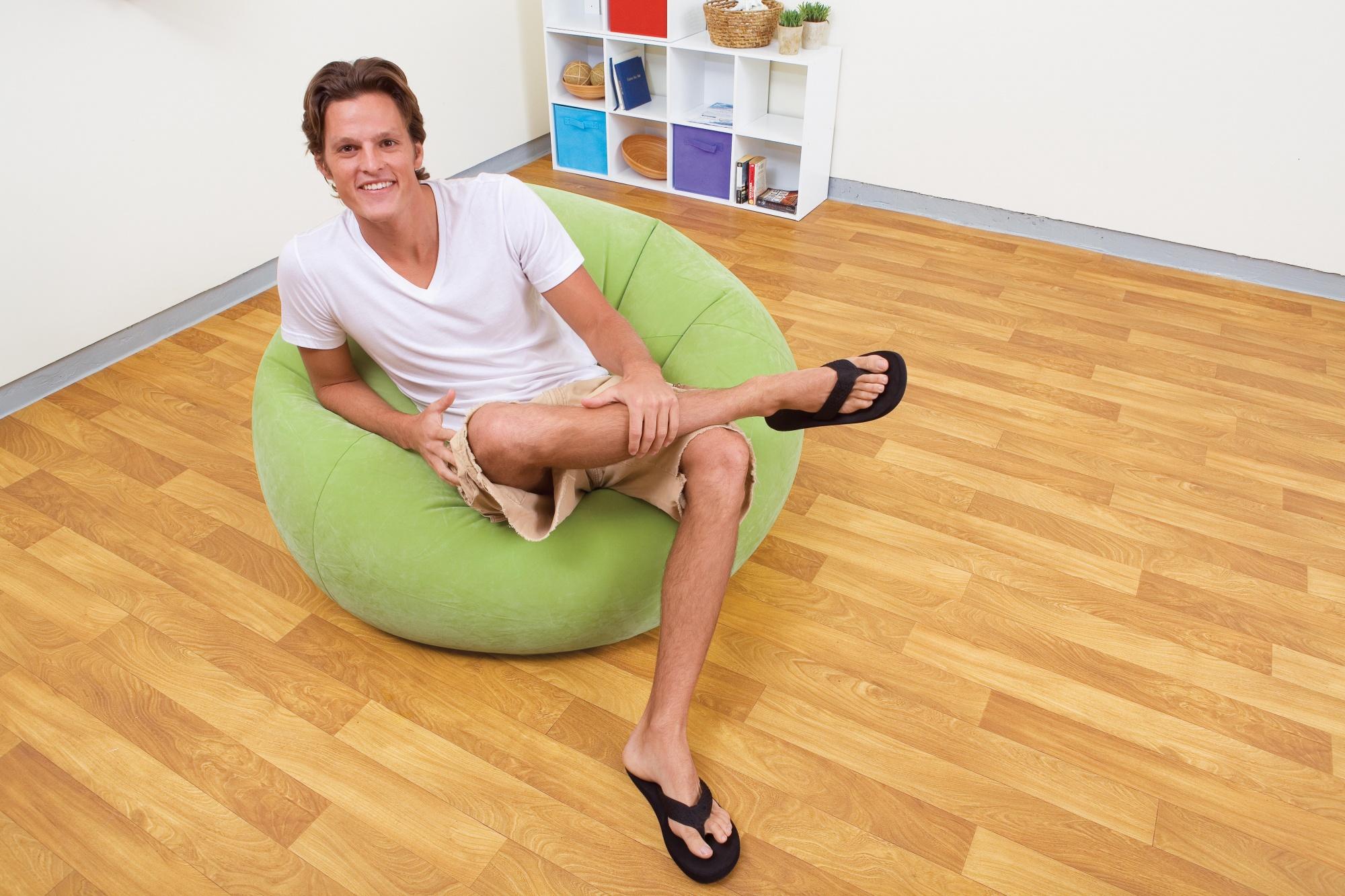 Opblaasbare Lounge Stoel.Intex Opblaasbare Loungestoel Groen 104 X 107 X 69 Cm Internet
