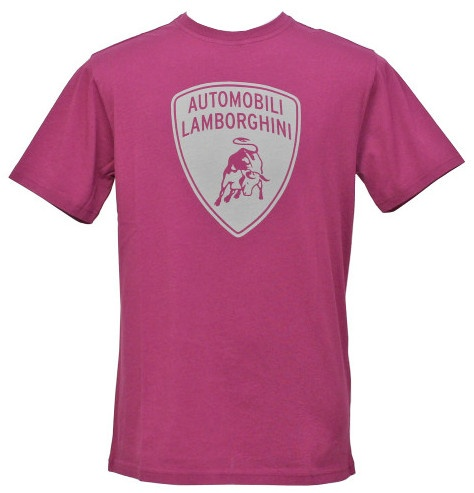 Lamborghini T Shirt Shield Print Purple Men