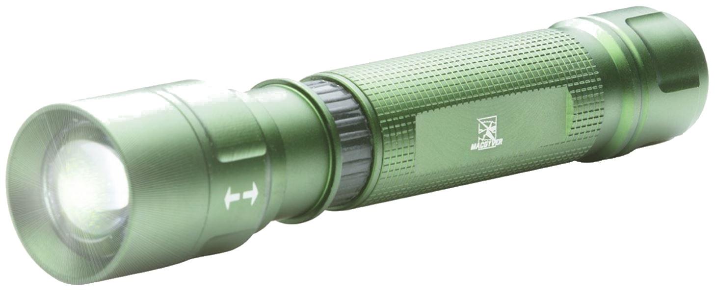 MacGyver Lampe de Poche Rechargeable Multi Beam Multi Beam 16 cm Aluminium Vert Vert