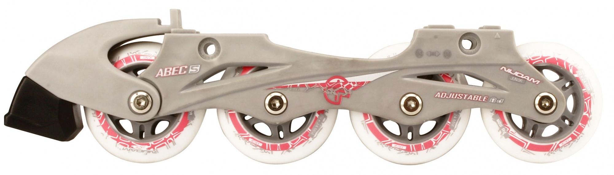 64bc059c819 Nijdam Combo skate/schaats junior roze/zilver - Internet-Sport&Casuals