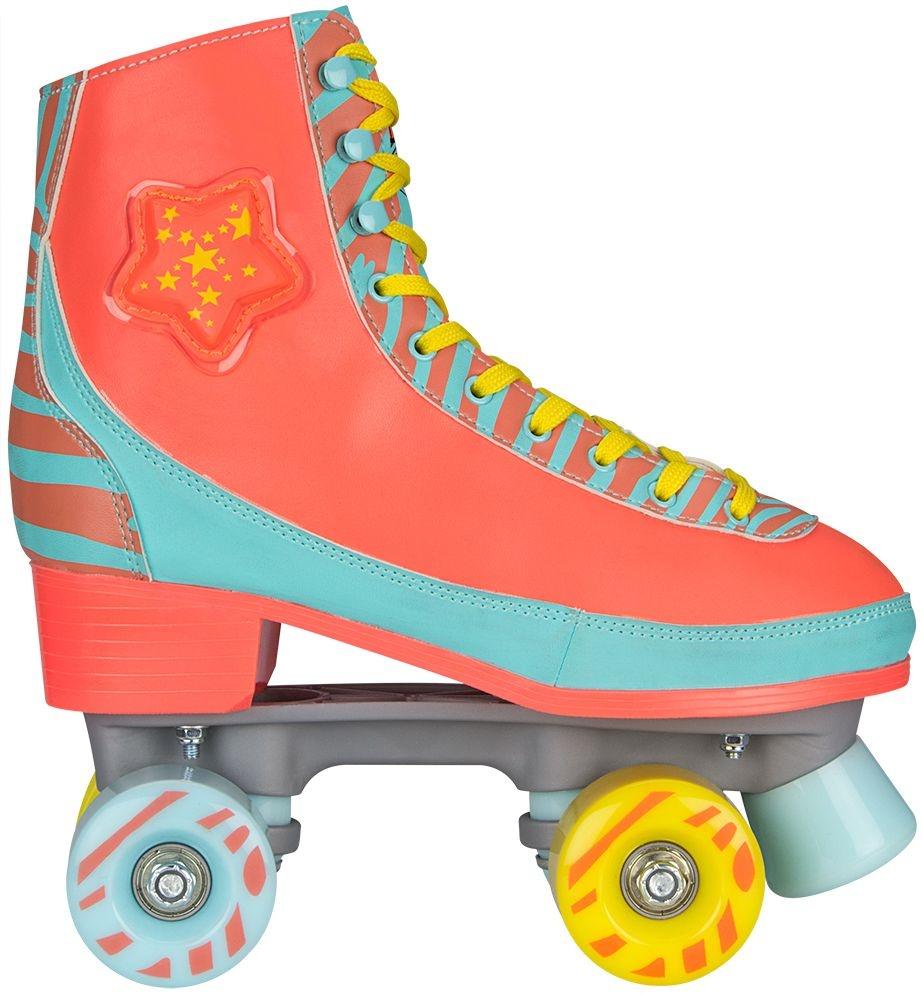 ae5c10fdd40 Nijdam Roller skates LED Star Zebra ladies orange - Internet ...