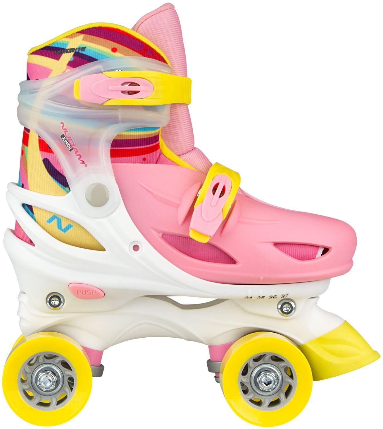 51056a58b09 Nijdam roller skates Rainbow Rolleradjustable pink - Internet ...