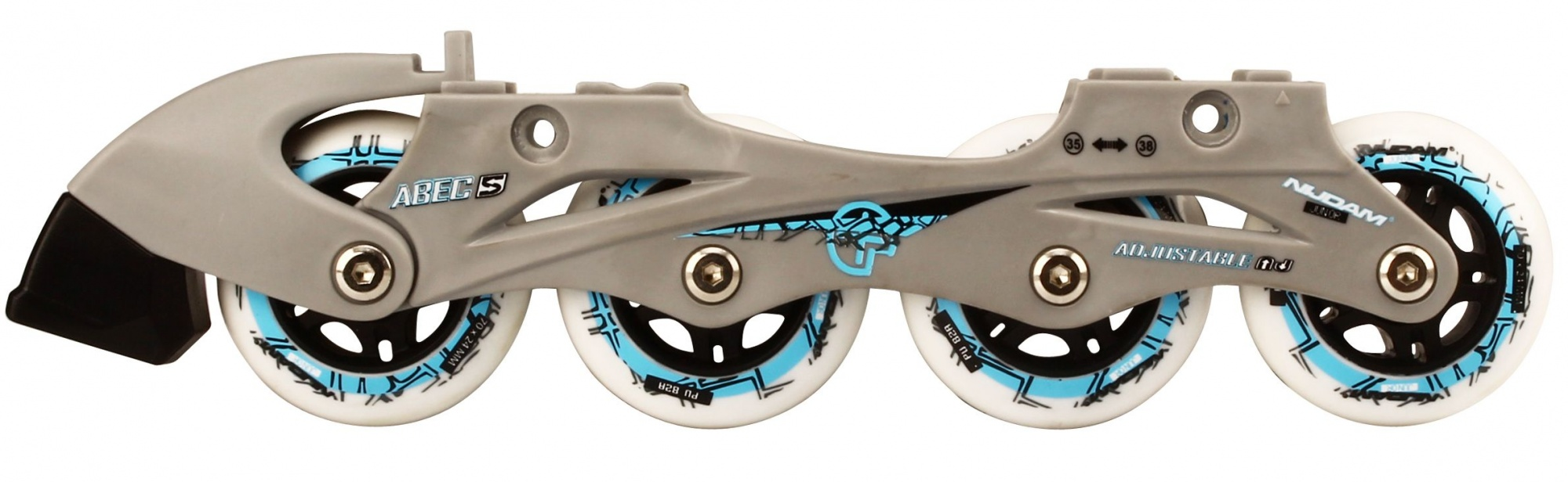 481273a4540 Nijdam Skate/schaats combo junior zwart/blauw - Internet-Sport&Casuals