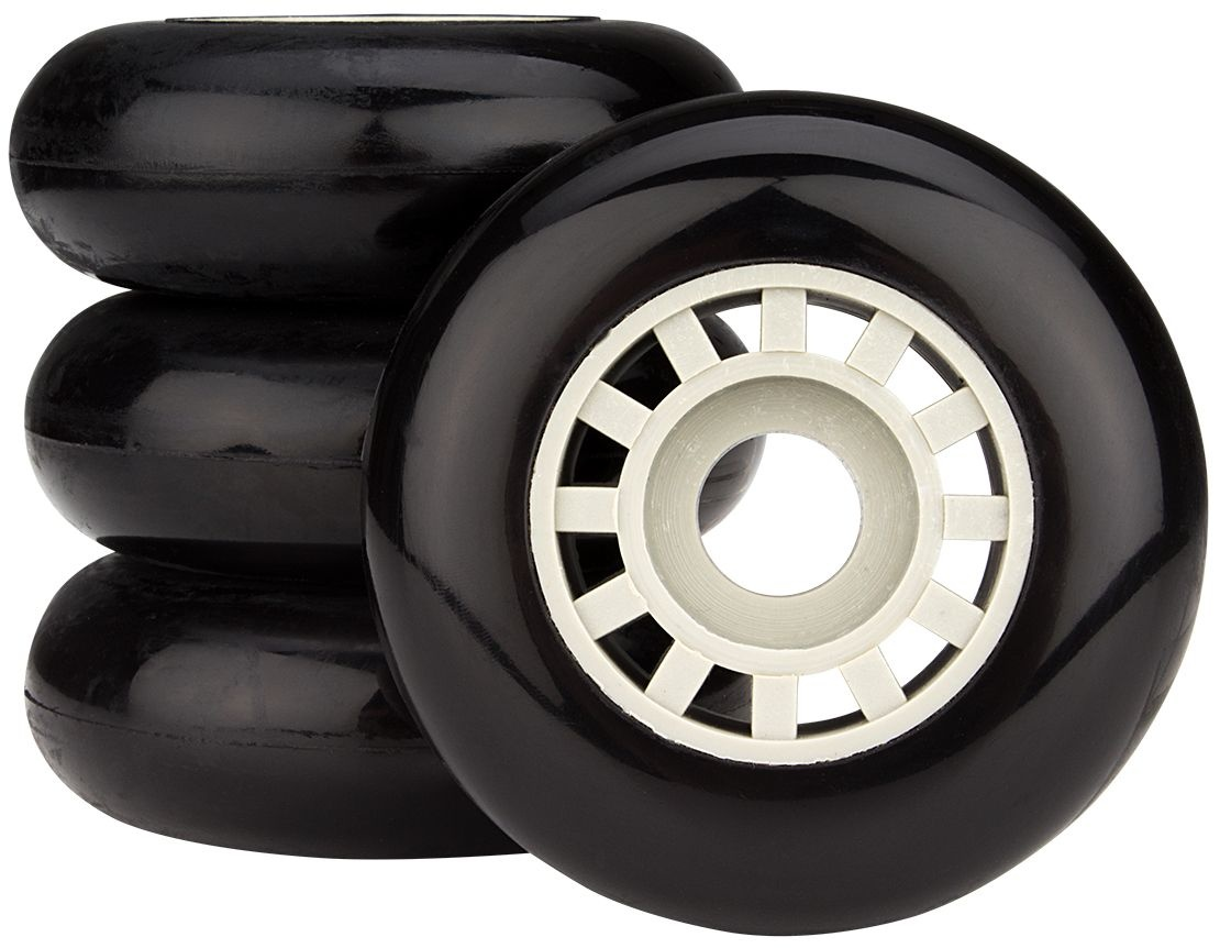 aee316dad65 Nijdam Spoked wheels for Inlineskates black 70x25 mm 4 pieces ...