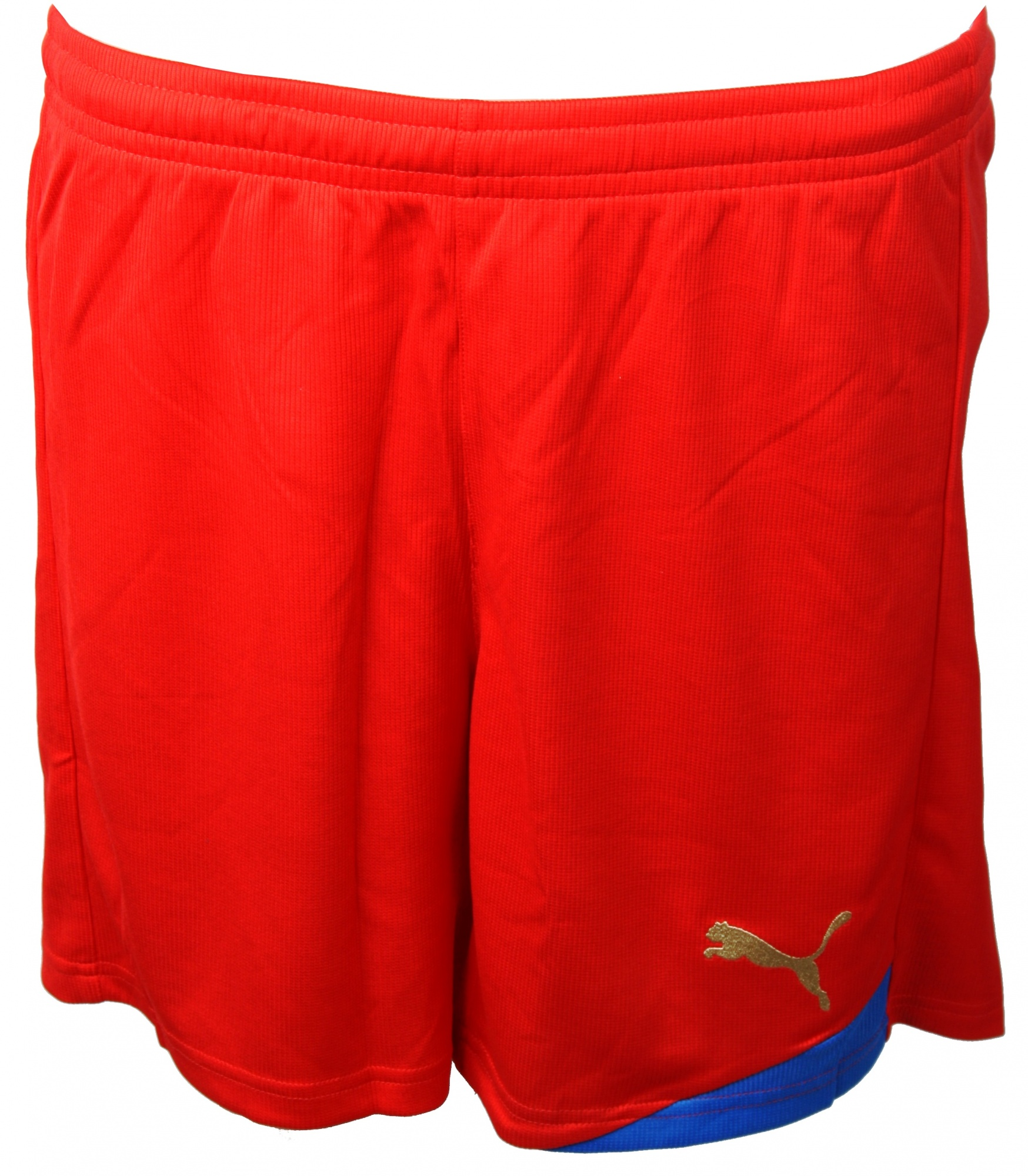 253591011ab2 Puma Esito Short Football Pants Red   Gold - Internet-Sport Casuals