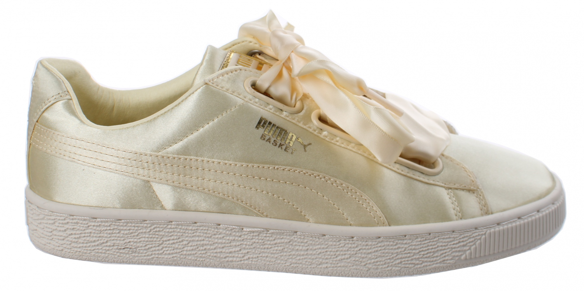 new arrival f3042 8202f Puma sneakers Basket Heart ladies pale yellow - Internet ...