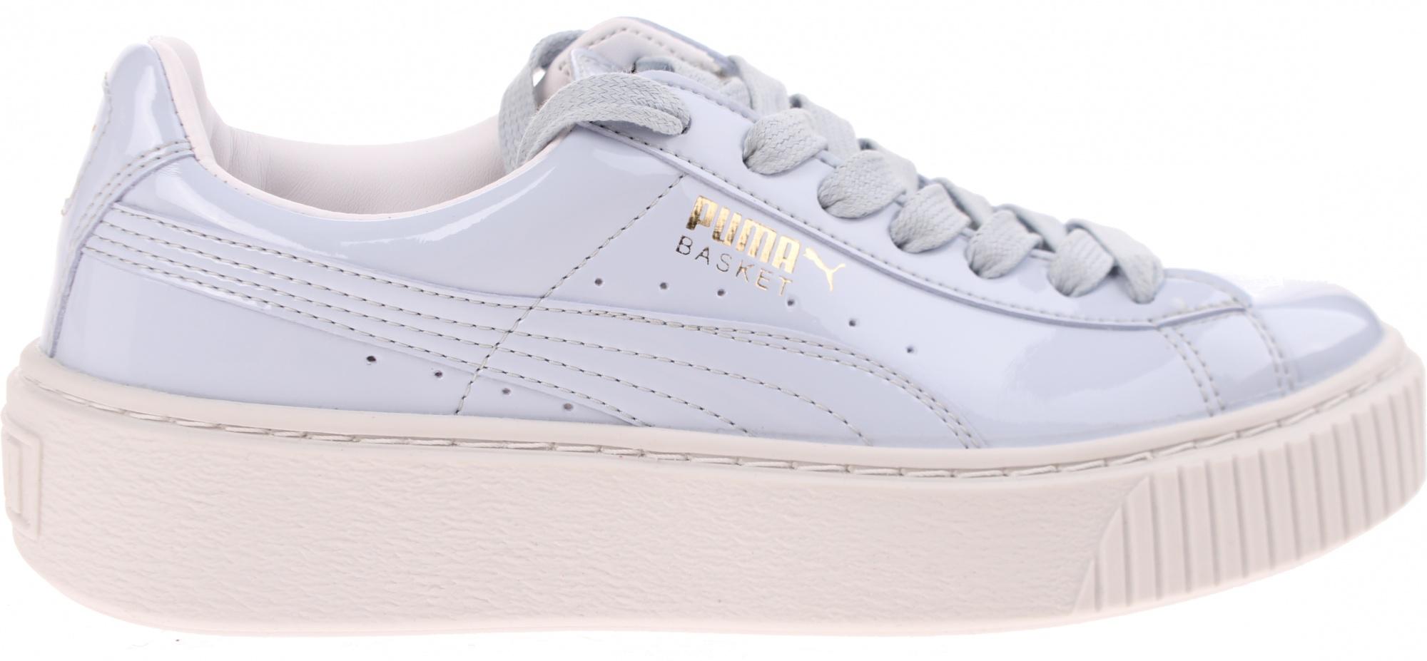 Puma Sneakers Basket Platform Patent Wn's Ladies Blue