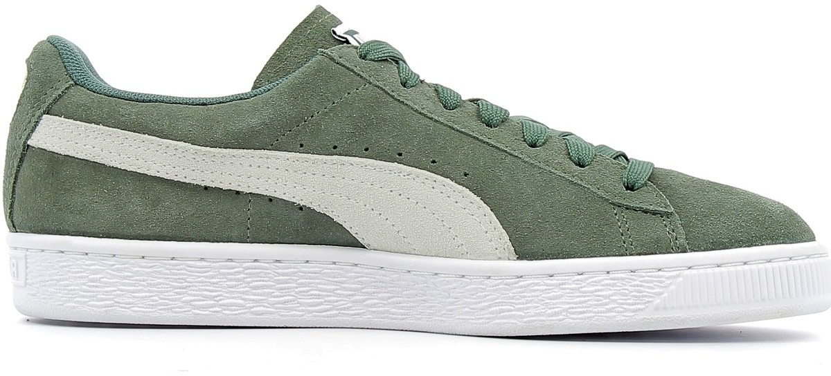 ac36a5eaf8b Puma sneakers Classic Satin Wn's dames wit/groen - Internet ...