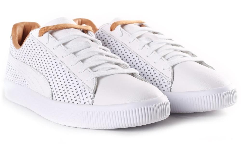9c6b21da339 Puma sneakers Clyde Colorblock 2 men white   brown - Internet ...
