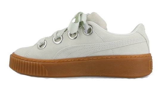 e7a9a55a1a2 Puma sneakers Platform Kiss Suede dames mintgroen - Internet ...