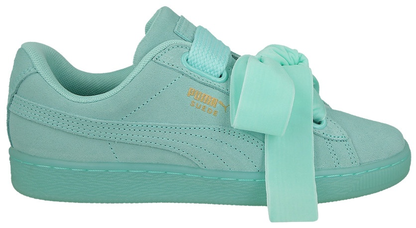 the latest 4e7a2 524e1 sneakers Suède Heart Reset ladies mint