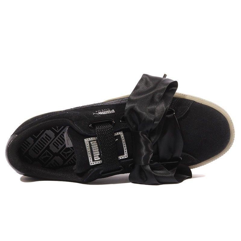 on sale 18f53 ff369 Puma sneakers Suede Heart Safari ladies black - Internet ...