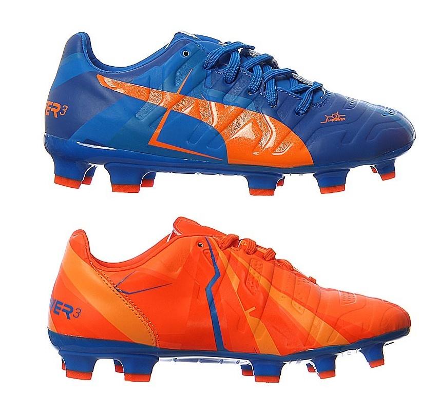 35c52414a219 Puma soccer Evopower 3 H2h FG men s orange   blue - Internet ...