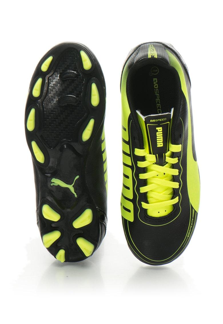 f249668ded97 Puma football boots EvoSpeed 5.2 FG junior black/yellow - Internet ...