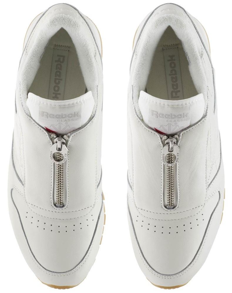 Reebok Sneakers Classic Leather Zip Chalk Damen Creme