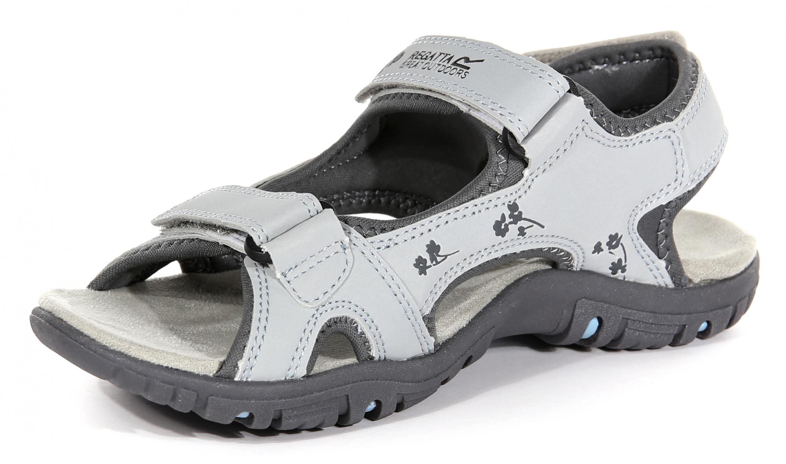 Regatta Womens Haris Walking Shoes Sandals Grey Sand Sports Outdoors