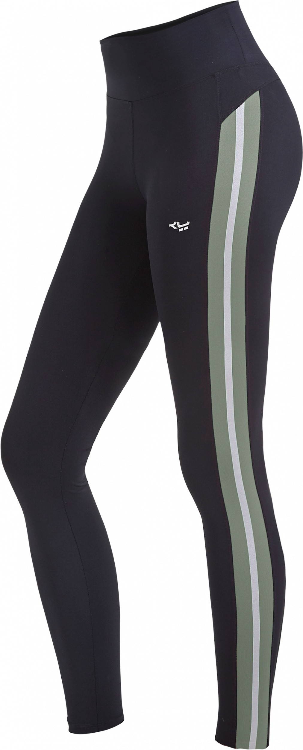 Shaping Sportlegging.Rohnisch Sportlegging Shape Dames Zwart Legergroen Internet