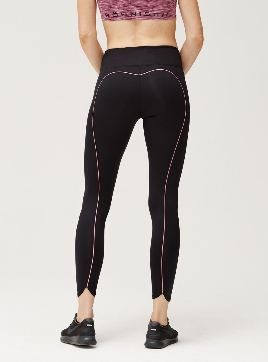 Shaping Sportlegging.Rohnisch Sportlegging Shape Sleek Dames Zwart Roze Internet