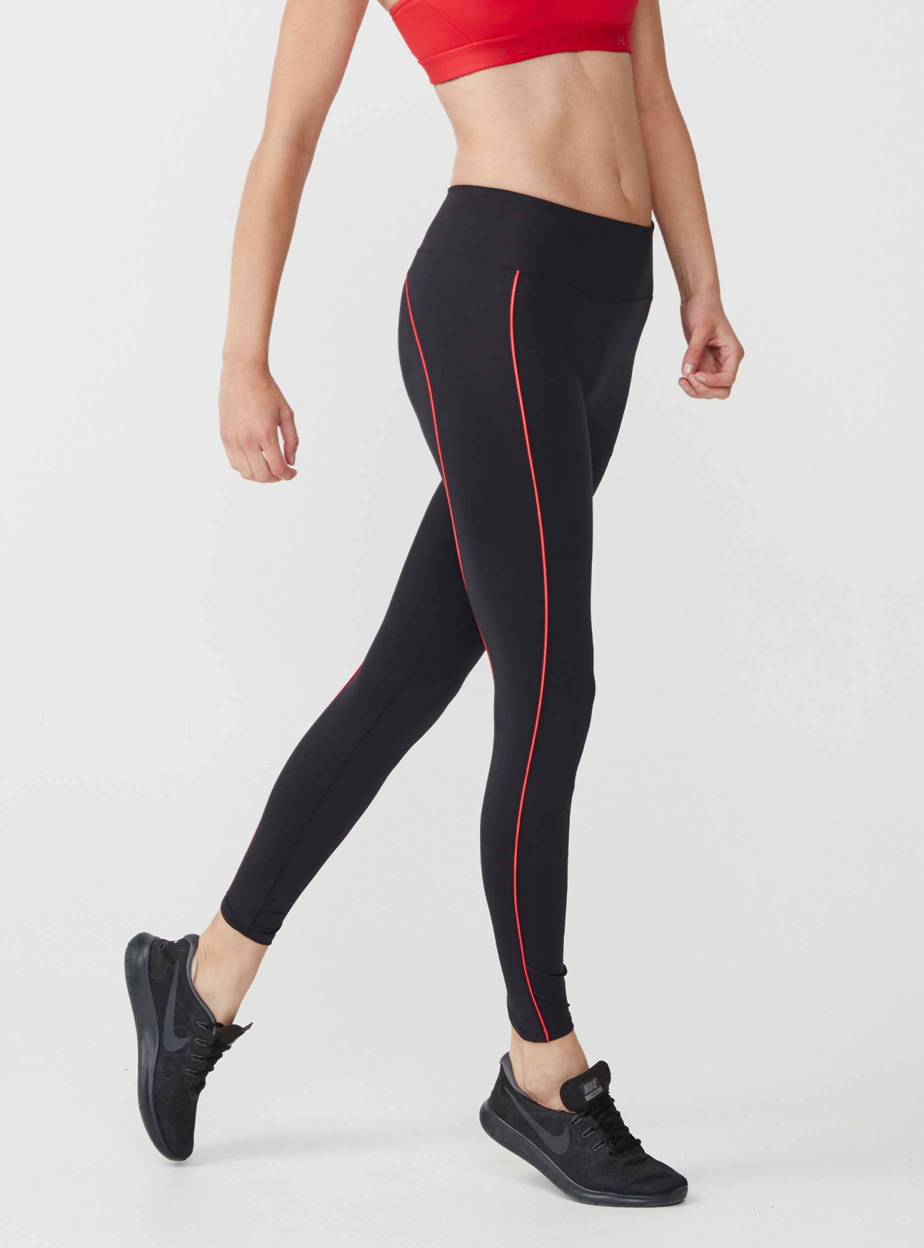 e8497c92894 Röhnisch sportlegging Shape Sleek dames zwart/rood - Internet ...