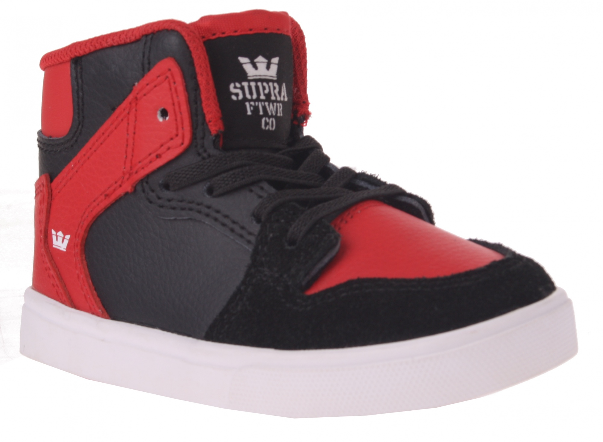 55af109eff59 Supra High Sneakers Vaider Junior Red   Black - Internet-Sport Casuals