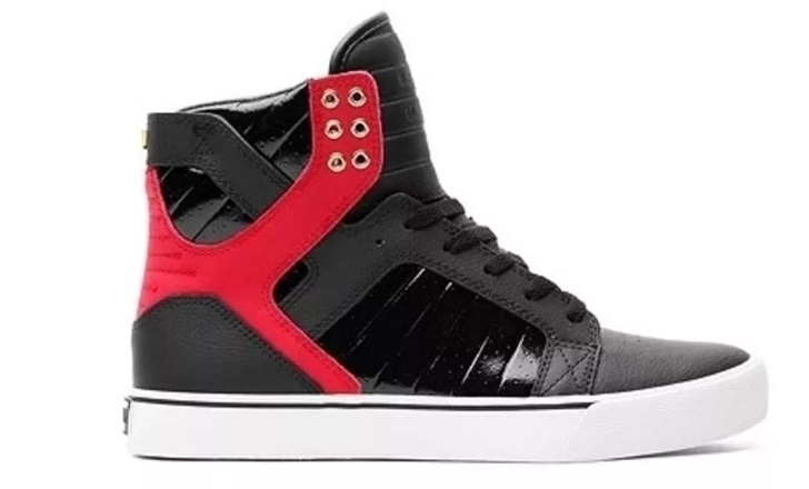 8210a26a0152 Product description. Supra Skytop sneakers size 36. The Skytop Black   Red  - White ...
