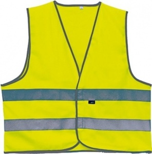 4-Act Safety vest 2 Stripes Unisex Yellow