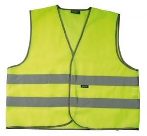 4-Act Safety vest 2HA 2 Stripes Unisex Yellow
