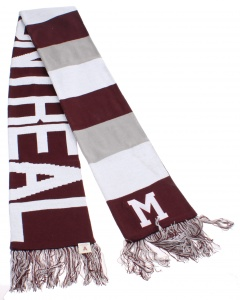 47 Brand sjaal Montreal Maroons one size donkerrood/grijs/wit