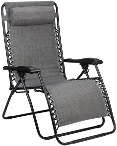 Abbey Camp camping chair Chaise Longue Padding 90 x 75 x 112 cm grey