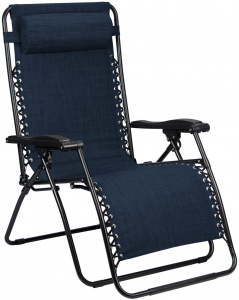 Abbey Camp camping chair Chaise Longue Padding 90 x 75 x 112 cm navy blue