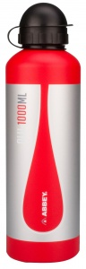 Abbey Camp drinkfles 1 liter aluminium unisex rood