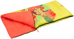 Abbey Camp sleeping bag Jungle junior 140 x 70 cm polyester yellow