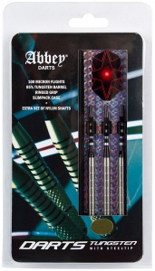 Abbey Darts dartpijlenset steeltip 85% tungsten zilver 26 gram