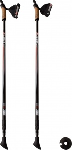 Abbey aluminium Nordic Walking poles adjustable black