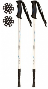 Abbey Walking Sticks Adjustable 63-135 cm Silver 2 Pieces