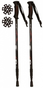 Abbey Walking Sticks Adjustable 63-135 cm Black 2 Pieces