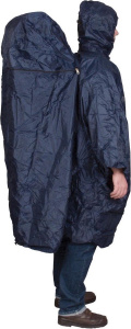 Active Leisure poncho met hoes polyester donkerblauw one-size