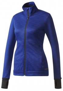 adidas dames golf vest fleece blauw