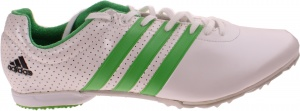adidas spikes Adizero MD heren wit/groen